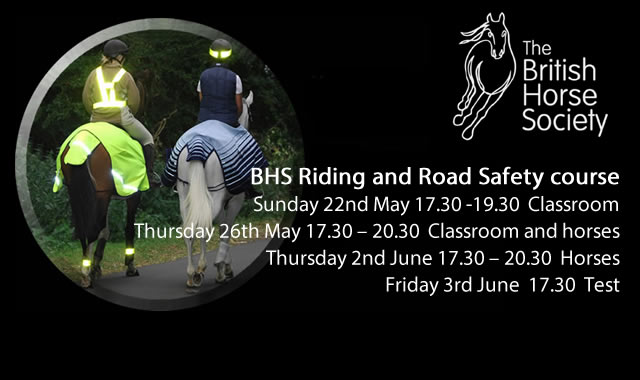 BHS - BHS Riding and Road Safety course at Caistor Equestrian Centre
