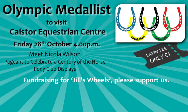 Meet Nicola Wilson on 28th October 2016 at Caistor Equestrian Centre